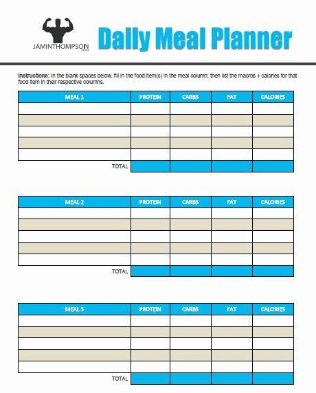 Meal Plan Template Word Meal Plan Template Pdf Lovely Free Printable Meal Plan