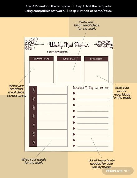 Meal Planner Template Google Docs Pin On Design Inspiration Art Deco
