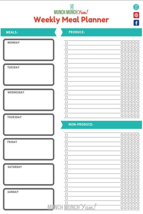 Meal Planning Template Super Easy Meal Planning for Beginners Free Menu Planner
