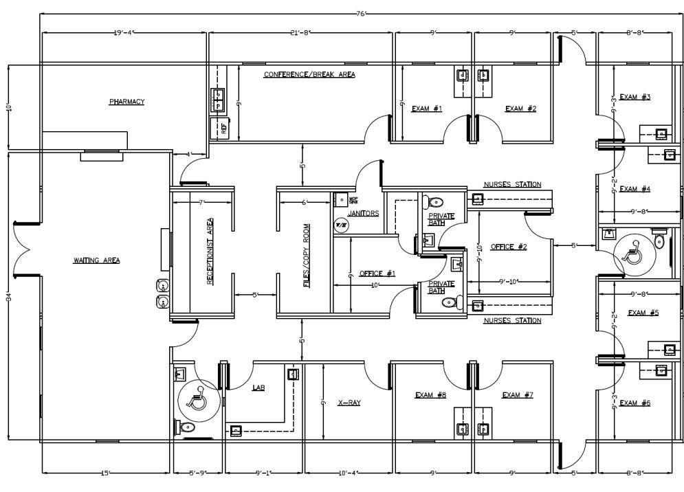 Medical Office Floor Plan Template Clinic Floor Plan Design Ideas In 2020