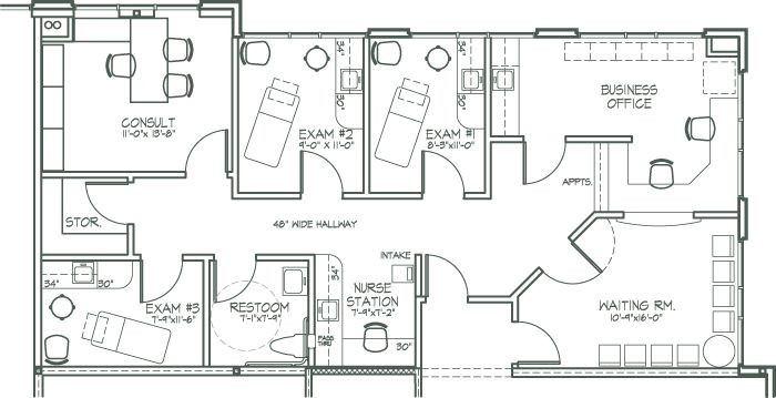 Medical Office Floor Plan Template Makena Medical Center