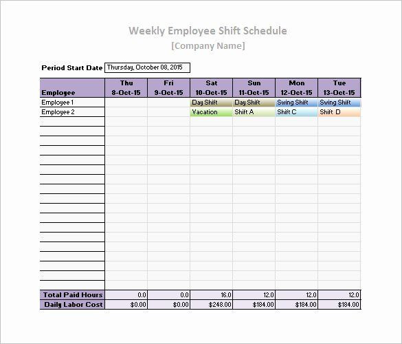 Microsoft Excel Daily Planner Template Daily Work Schedule Template Inspirational 19 Daily Work