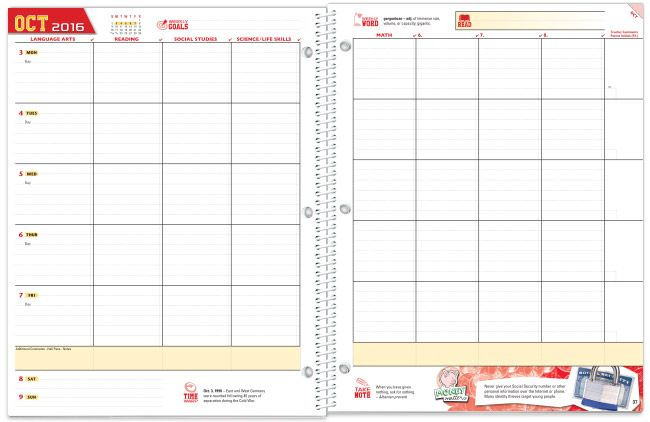 Middle School Student Planner Template Middle School Student Planner Template