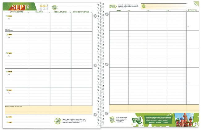 Middle School Student Planner Template Student Planners Middle School Planner School Mate