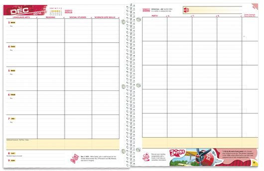 Middle School Student Planner Template Student Planners School Mate