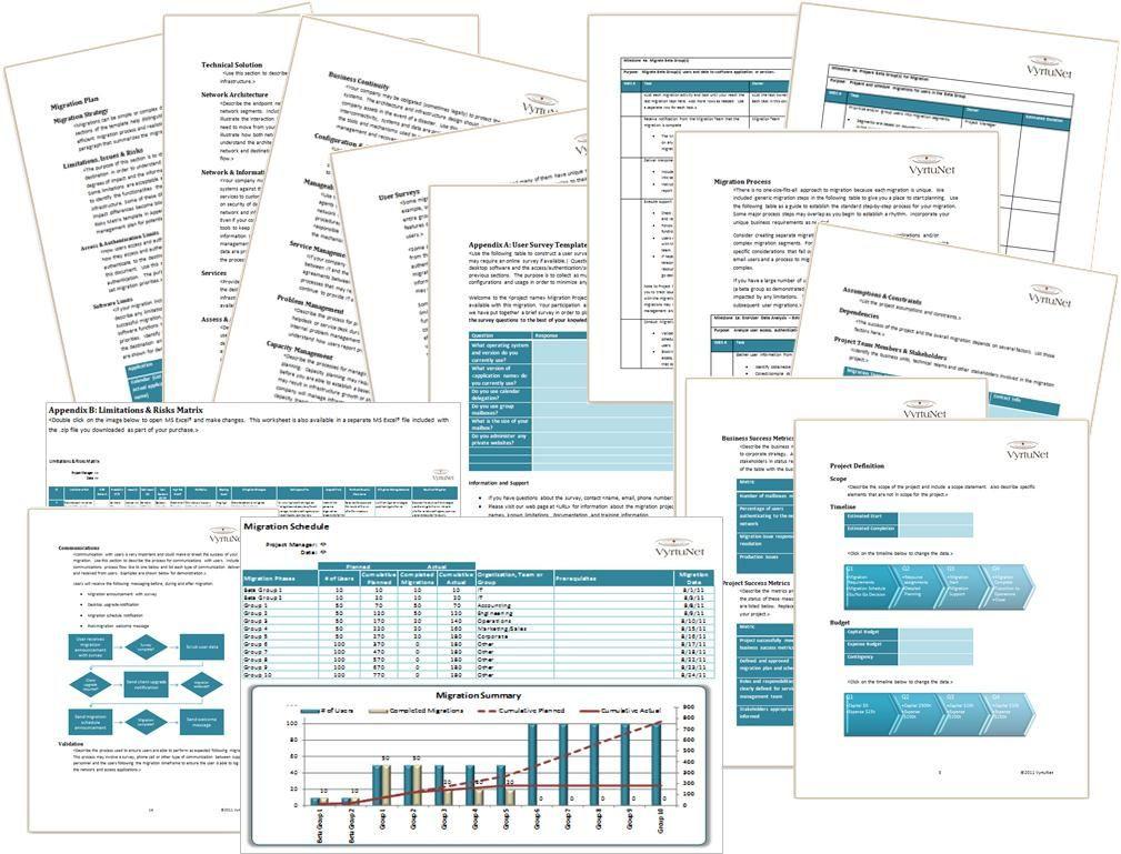 Migration Plan Template Excel It Infrastructure Migration Plan Template Detailed