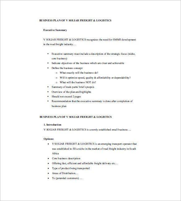 Mini Business Plan Template Mini Business Plan Template Fresh 18 Small Business Plan