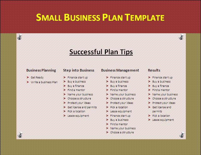 Mini Business Plan Template Pin On Business Template