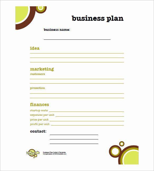 Mini Business Plan Template Printable Business Plan Template Fresh Simple Business Plan