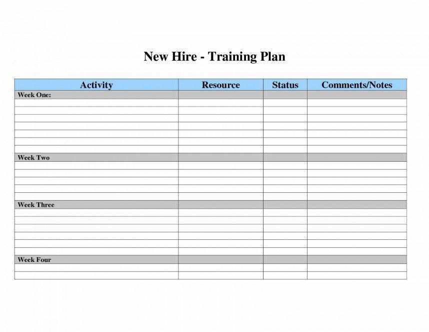 New Employee Training Plan Template 005 Workout Plan Template Excel Templates 20training
