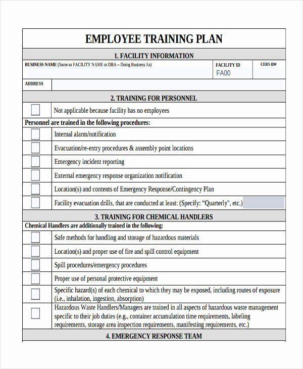 New Employee Training Plan Template Sample Training Plan Outline New 14 Training Plan Examples