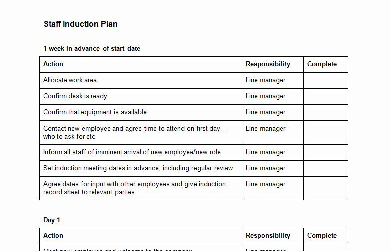New Hire Training Plan Template Employee Training Plan Template Unique Free Employee
