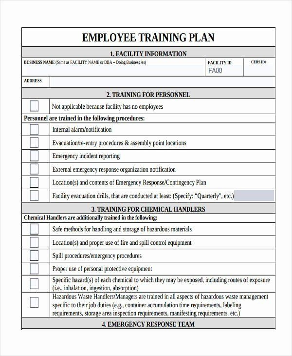 New Hire Training Plan Template Sample Training Plan Outline New 14 Training Plan Examples