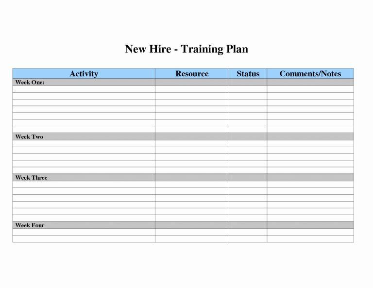 New Hire Training Plan Template Training Development Plan Template Elegant Employee