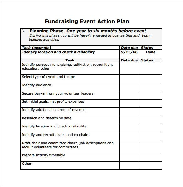 Non Profit event Planning Template event Planning Template