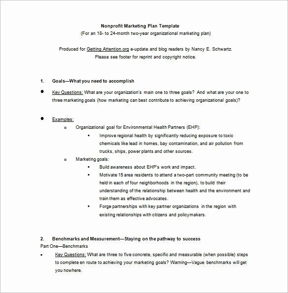 Nonprofit Marketing Plan Template Nonprofit Marketing Plan Template Fresh 12 Marketing Plan