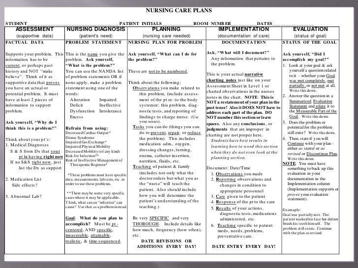 Nursing Care Plan Template Nursing Care Plan Ppt Final Draft