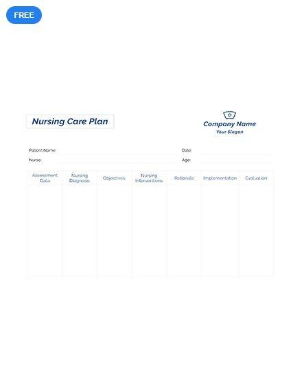 Nursing Care Plan Template Printable Free Printable Nursing Care Plan Template Pdf