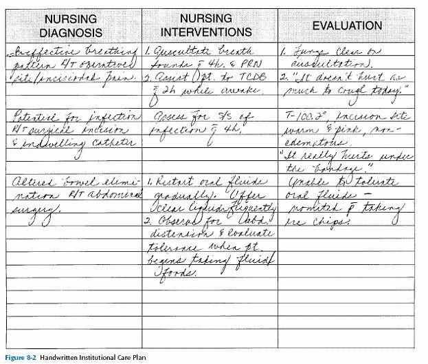 Nursing Care Plan Template Word Nursing Care Plans Template New Planning Nursing Care In
