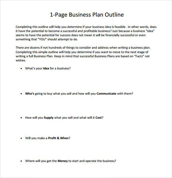 One Page Business Plan Template Pin by Bearly Articulating On Business
