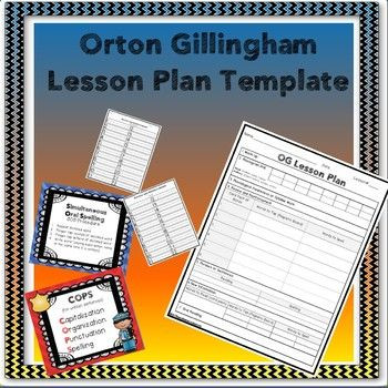 Orton Gillingham Lesson Plan Template orton Gillingham Lesson Plan Template and Additional
