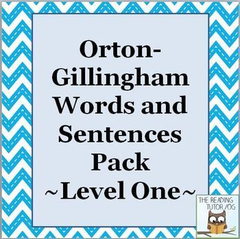 Orton Gillingham Lesson Plan Template orton Gillingham Level 1 Word Lists and Sentences 46 Lists