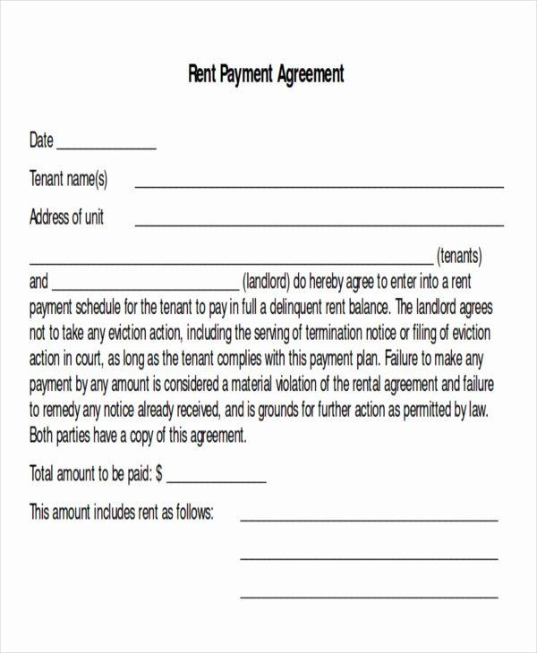 Payment Plan Agreement Template Word Payment Plan Agreement Template Unique Sample Payment Plan