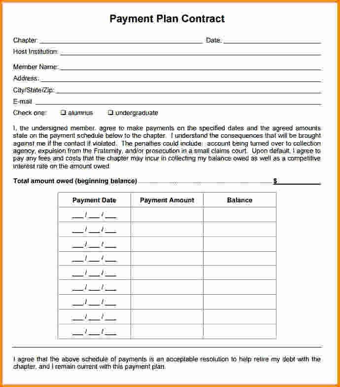 Payment Plan Template Free Payment Plan form Unique Best 25 Payment Agreement Ideas