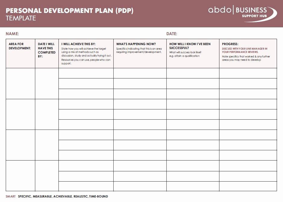 Personal Development Plan Template Excel Personal Development Plan Childcare Example Inspirational