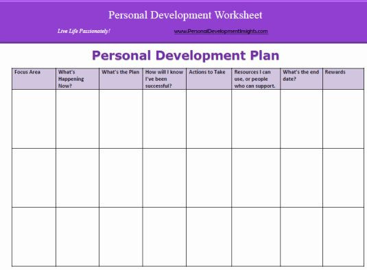 Personal Development Plan Template Excel Personal Growth Plan Template Beautiful 6 Personal