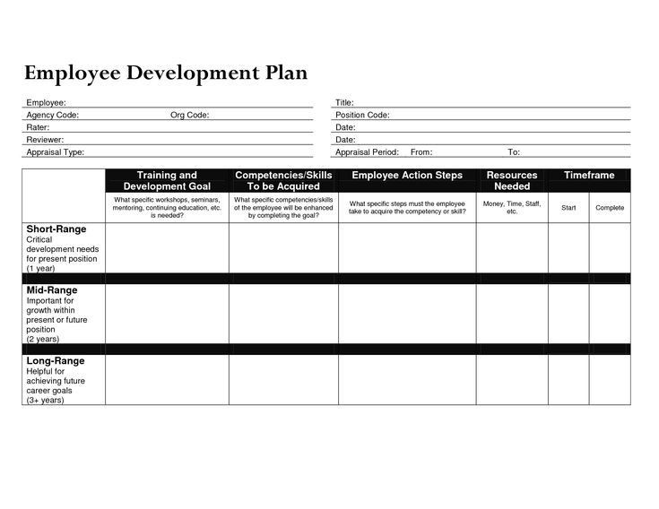 Personal Development Plan Template Word Employee Development Plan Template Word Luxury Individual