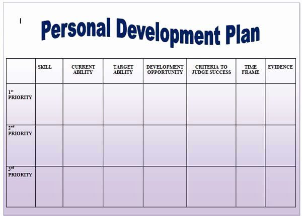 Personal Development Plan Template Word Personal Development Plan Childcare Example Elegant Help