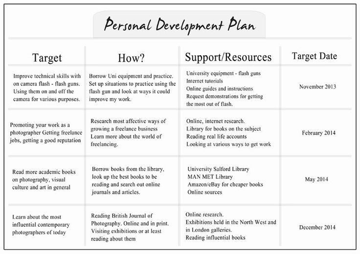 Personal Growth Plan Template Personal Growth Plan Example Google Search