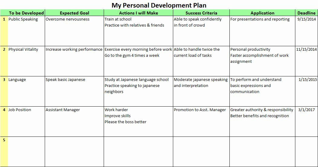 Personal Growth Plan Template Personal Improvement Plan Template Inspirational Personal