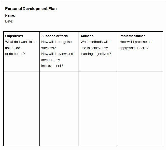 Personal Improvement Plan Template Pin On Examples Daily Work Plan Templates