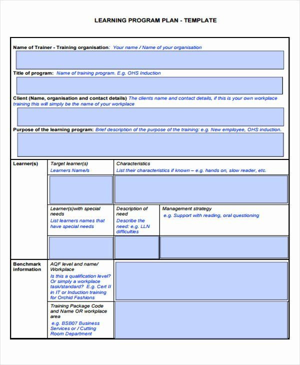 Personal Learning Plan Template Individual Learning Plan Template New Learning Plan Template