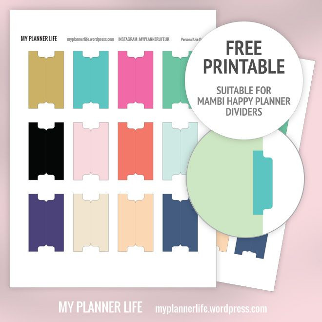 Personal Planner Divider Template Free Printable – Divider Tabs