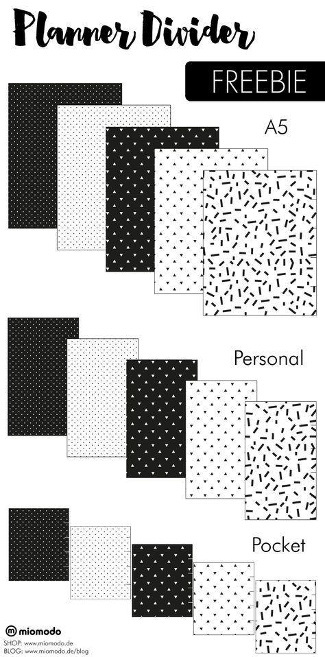 Personal Planner Divider Template Planner Divider Freebie Zum Kostenlosen Download