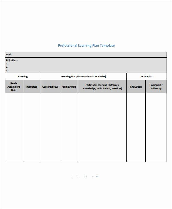 Personalised Learning Plans Template Personalised Learning Plan Template Inspirational Learning