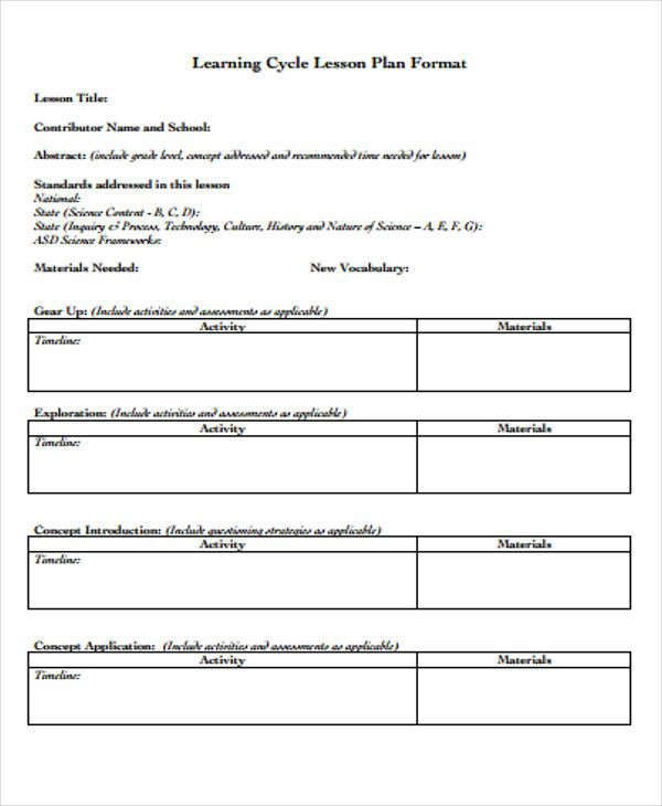 Personalized Learning Lesson Plan Template Personalized Learning Lesson Plan Template Awesome Learning