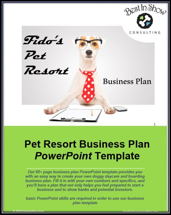Pet Sitting Business Plan Template Dog Boarding & Daycare Business Plan Template