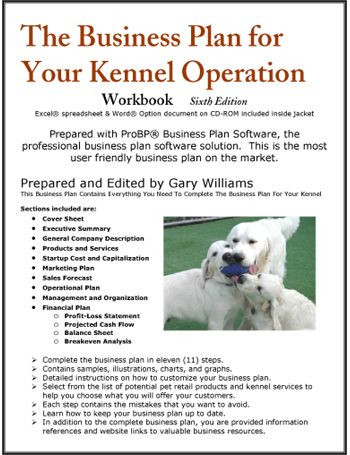 Pet Sitting Business Plan Template the Business Plan for Your Dog Kennel Operation Nicole