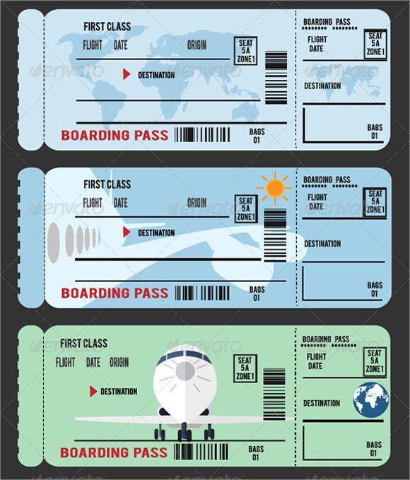 Plane Ticket Template Pdf Boarding Pass Template 580—679