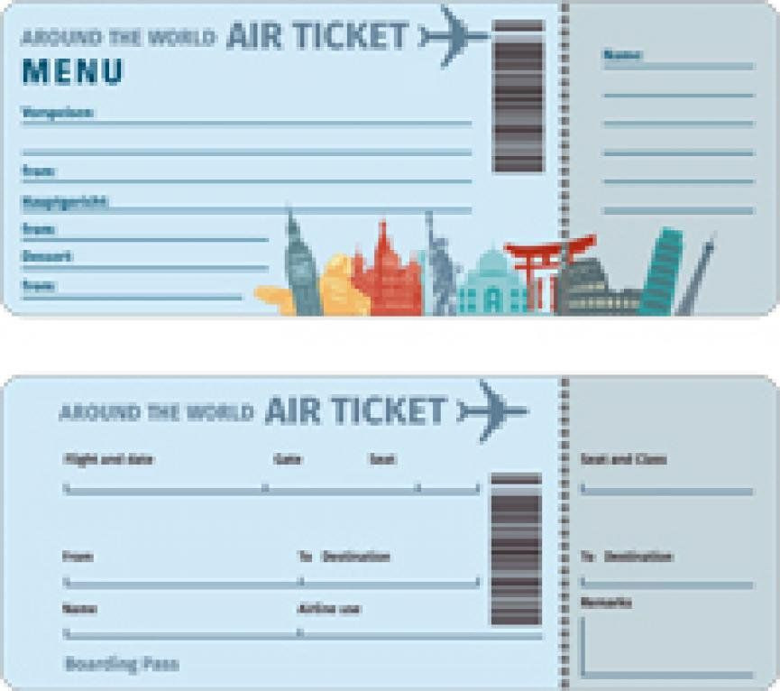 Plane Ticket Template Pdf Gratis Download Flugticket Motive