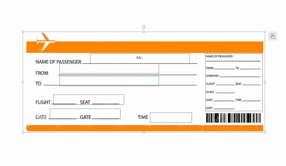 Plane Ticket Template Pdf Plane Ticket Template Pdf Awesome 16 Real & Fake Boarding