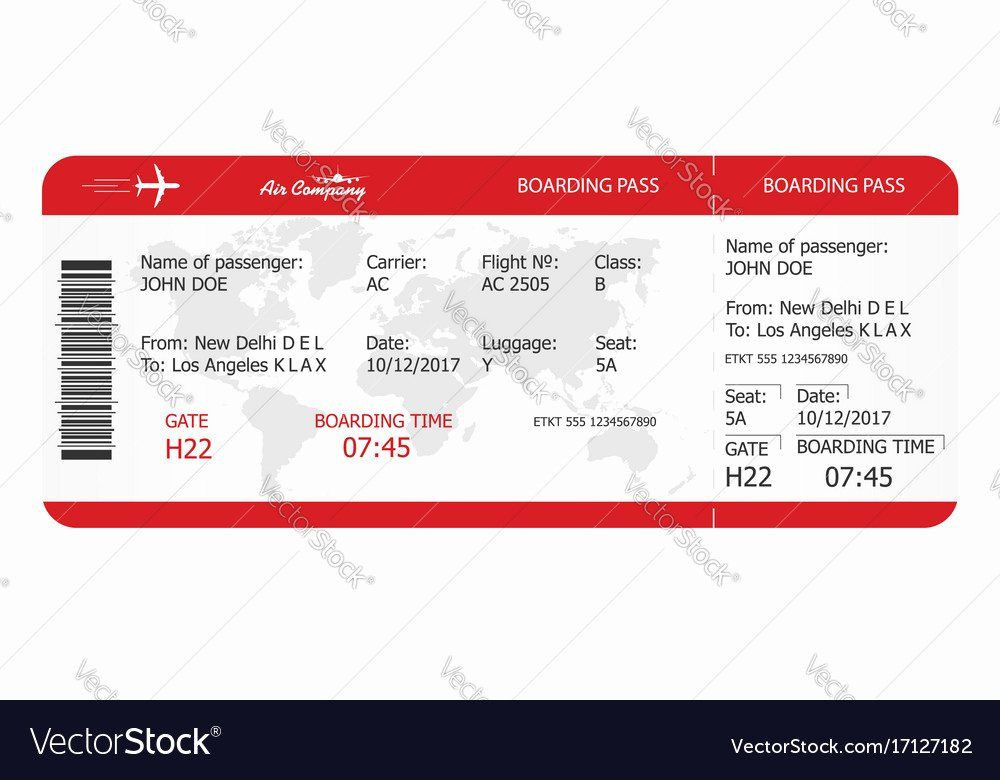 Plane Ticket Template Pdf Plane Ticket Template Pdf Awesome Airplane Ticket Boarding