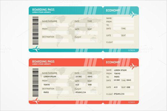 Plane Ticket Template Pdf Plane Ticket Template Pdf Beautiful Free 15 Boarding Pass