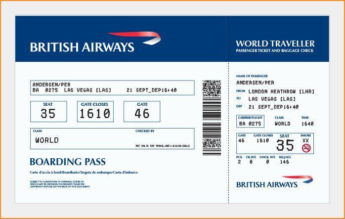 Plane Ticket Template Pdf Plane Ticket Template Pdf Unique 27 Best Airline Boarding