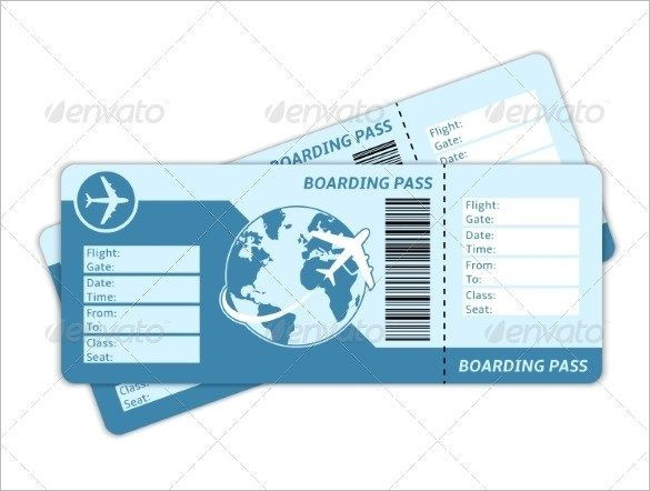 Plane Ticket Template Pdf Ticket Template 91 Free Word Excel Pdf Psd Eps formats