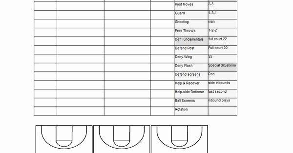 Practice Plan Template Basketball Blank Football Practice Plan Template Elegant Basketball